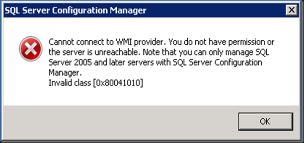 Cannot connect to WMI provider  You do not have permission