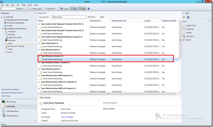 SCOM] Create Monitor Based on Event Viewer Log • Infront