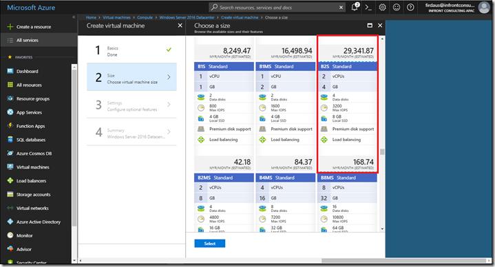 AZURE] Quick Start–Create a Windows virtual machine in the Azure