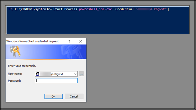 Launch PowerShell ISE with another Credential • Infront